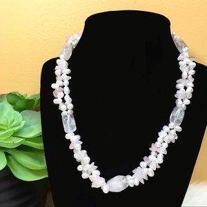 Jewelry - Baroque Pearls and Quartz Crystal Necklace